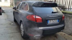 Porsche Cayenne car wrapping Roma