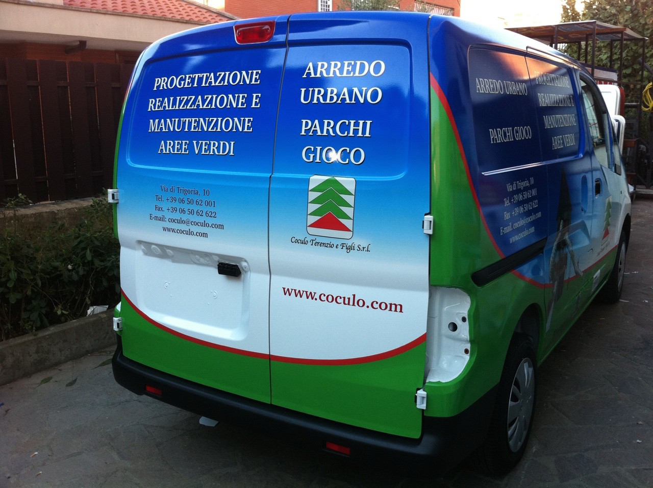 Furgoncino car wrapping Roma