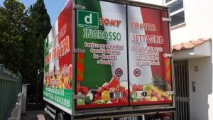 Furgone alimenti car wrapping roma